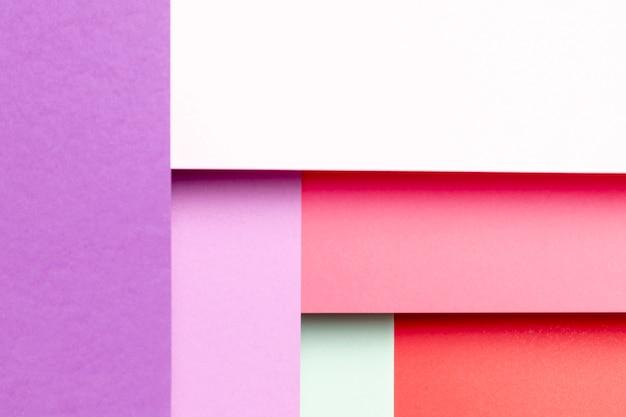 Bovenaanzichtpatroon met verschillende tinten kleuren