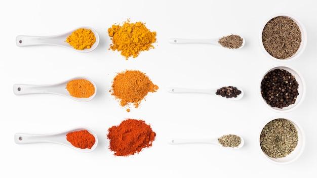 Bovenstaand assortiment specerijen