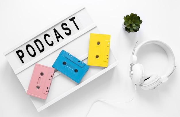 Bovenstaande weergave podcast items arrangement