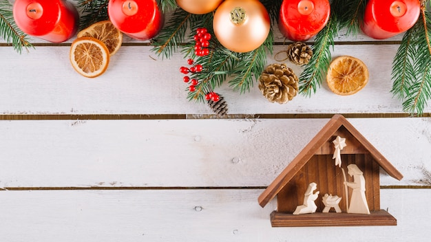 Bovenste kerststal