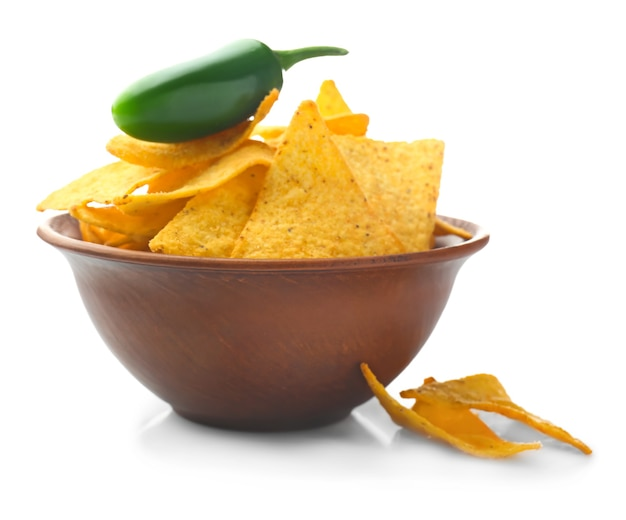 Bowl met lekkere nacho's