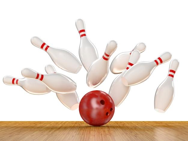 Bowling actie scène