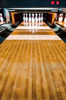 Bowlingbaan. pinnen.