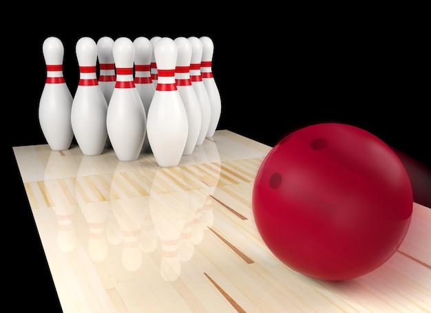 Bowlingbal gaat recht op bowling