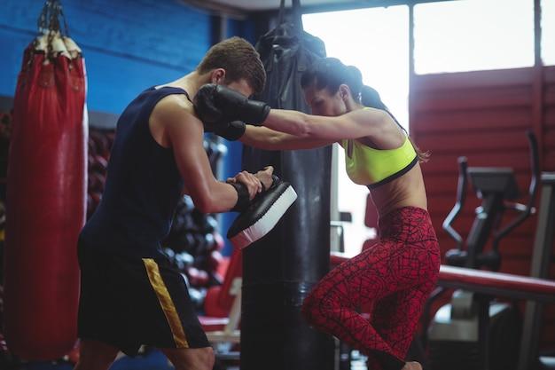 Boxers die focuswanten gebruiken tijdens de training
