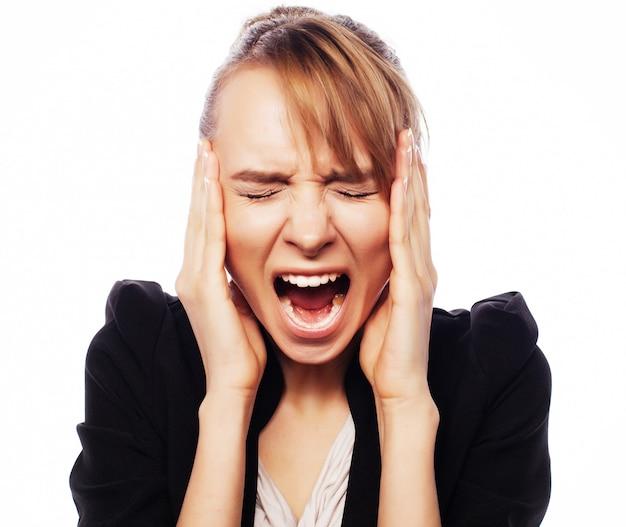 Boze schreeuwende zakenvrouw