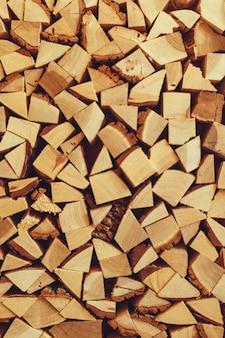 Brandhout. uitzicht van boven