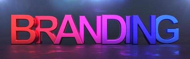 Branding concept, kleurrijk