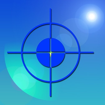 Brandpunt vizier centrum crosshair midden