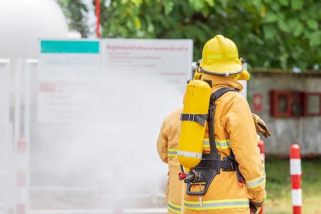 Brandweerman op het vuur