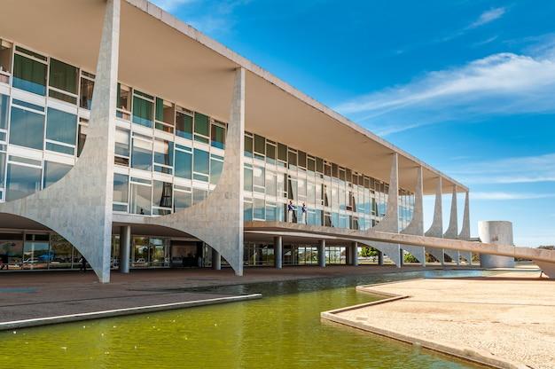 Brasilia df brazil op 14 augustus 2008 palacio do planalto the presidents werkplek