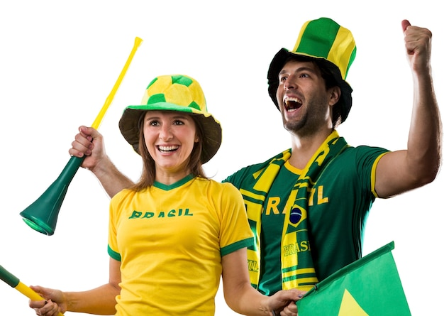 Braziliaans koppel vieren op een.