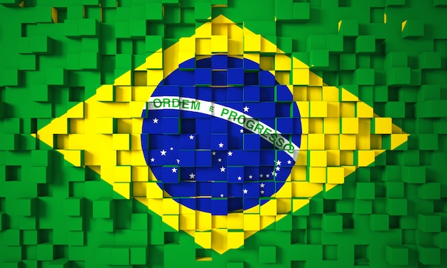 Braziliaanse 3d vlag