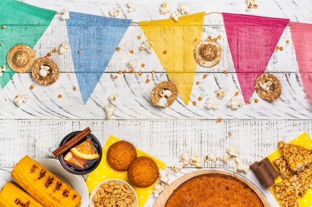 Braziliaanse festa junina feesttafel