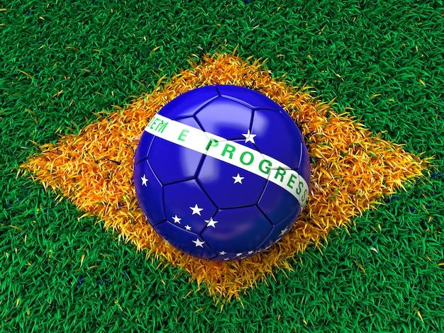 Brazilië gras vlag