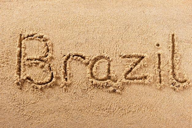 Brazilië handgeschreven strand zand bericht