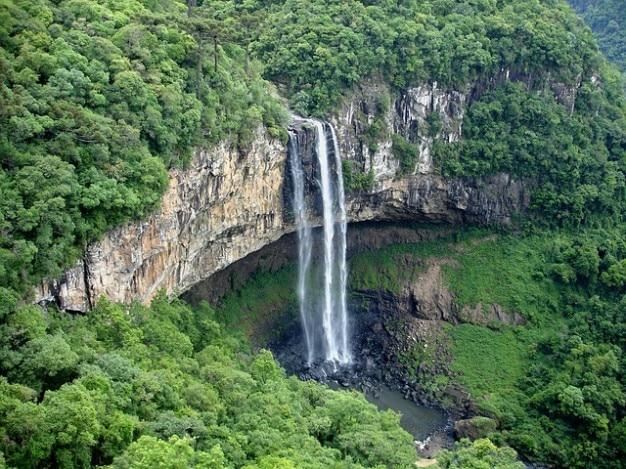 Brazilië sul waterval natuur grande rio caracol