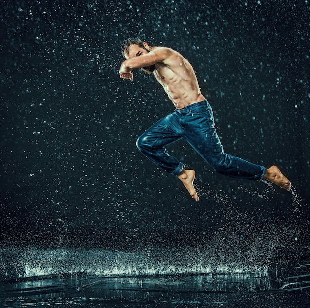 Breakdancer in water