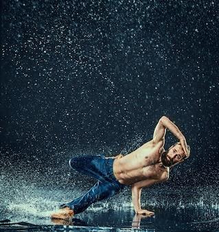 Breakdancer in water