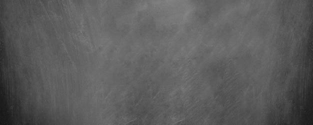 Brede horizontale zwarte bord en schoolbord achtergrond