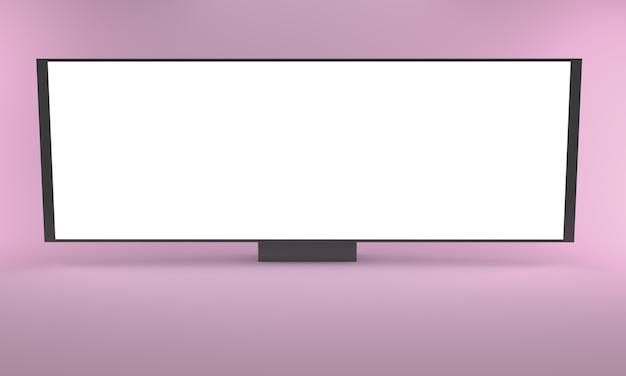 Brede reclameborden, 3d-rendering.