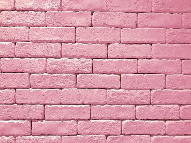 Brede roze bakstenen muur panoramische textuur als achtergrond. thuis en op kantoor ontwerp achtergrond