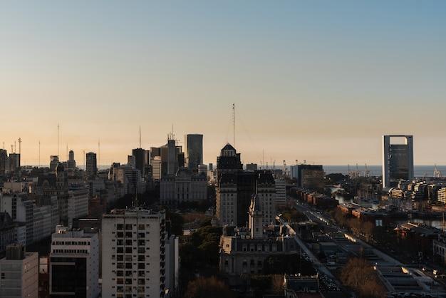 Breed gespreide skyline van het stedelijk gebied