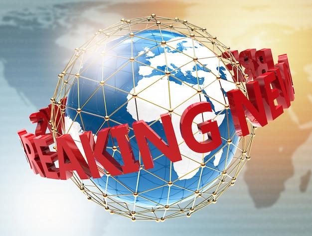 Brekend nieuws op wereldkaart