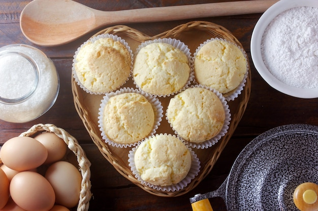 Brevidade is een traditionele braziliaanse zoete cake gemaakt van cassavezetmeel