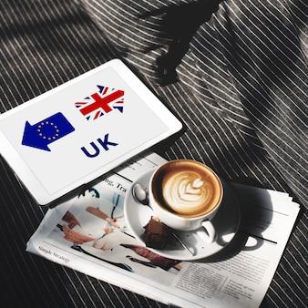 Brexit groot-brittannië verlaat europese unie stop referendum concept