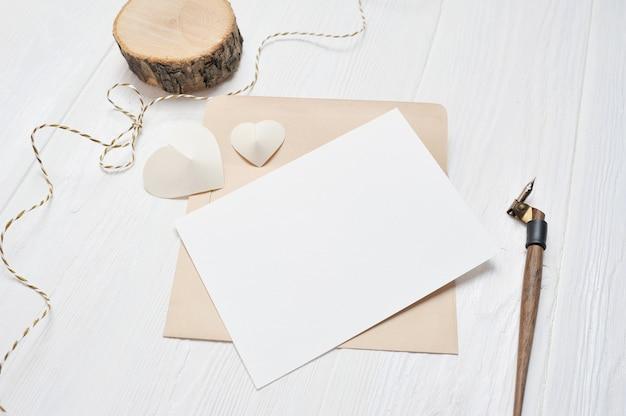 Brief met een kalligrafische pen