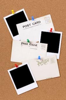 Briefkaarten met lege fotoprints