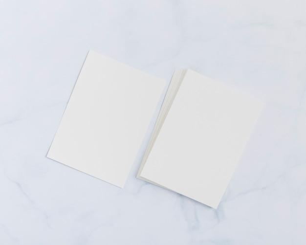 Briefpapier lege visitekaartjes concept