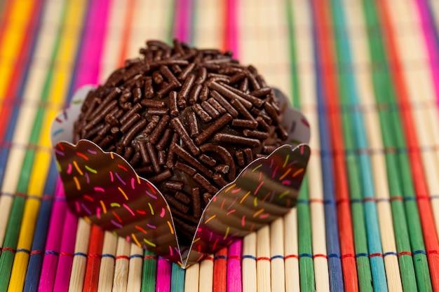 Brigadeiro een braziliaans snoepje.