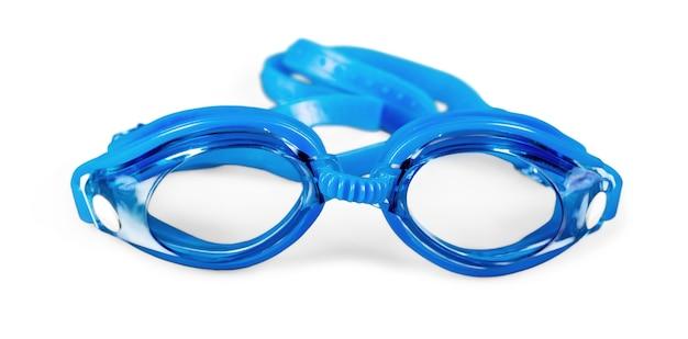 Bril om te zwemmen geïsoleerd op een witte achtergrond