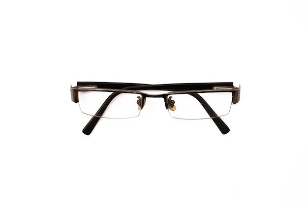 Bril op een witte achtergrond