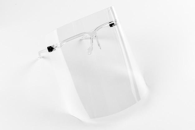 Brillen met afneembaar gelaatsscherm