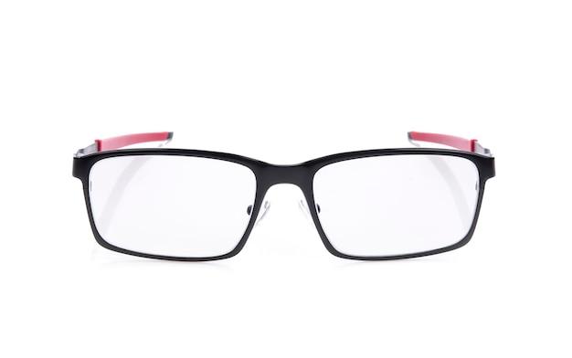 Brillen op wit wordt geïsoleerd