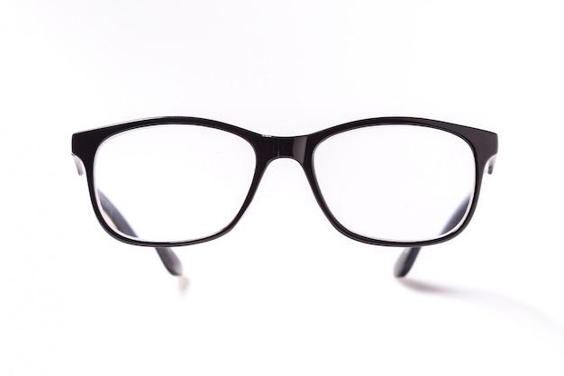 Brillenglazen met zwarte bril