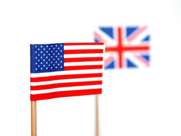 Britse en amerikaanse vlaggen