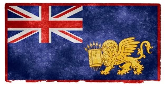 Britse ionische eilanden grunge vlag
