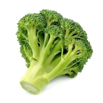 Broccoli cabagge close-up geïsoleerd op een witte achtergrond.