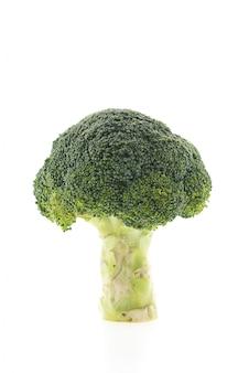 Broccoli met een witte achtergrond