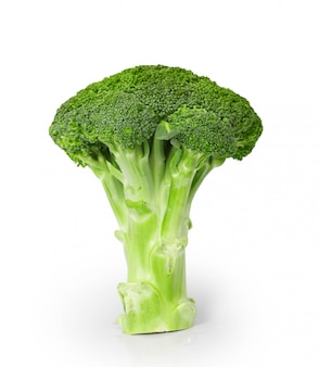 Broccoli op een witte ondergrond