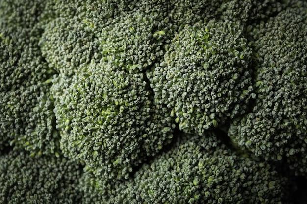 Broccoli op hele oppervlak, macro. verse groente