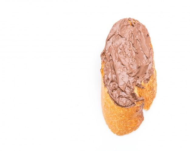 Brood met chocolade hazelnootpasta