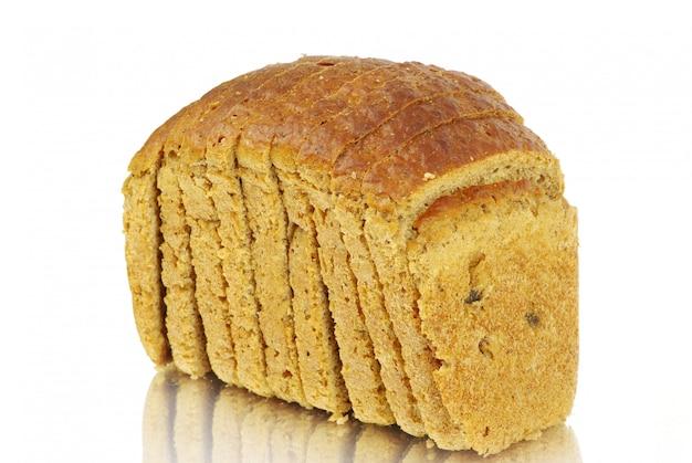 Brood op geïsoleerd wit
