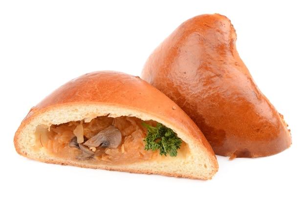 Broodje op een witte achtergrond