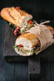 Broodje vegetarisch stokbrood