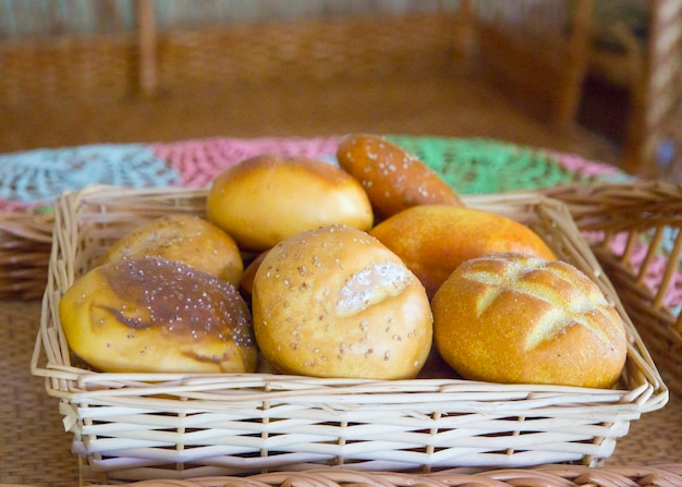 Broodjes broden brood producten achtergrond